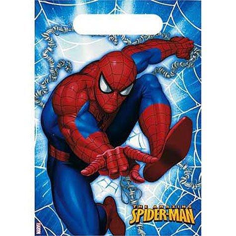 Hallmark Marvel The Amazing Spider-Man Set of Loot Bags (Webslinging on Blue)
