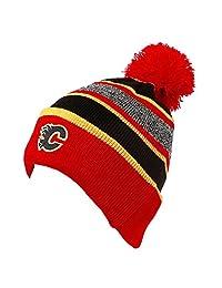 NHL Men's Calgary Flames Big Red Pom Pom Hat