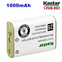 Kastar HHR-P103 Battery, Type 25, NI-MH Rechargeable Battery 3.6V 1000mAh Replacement for Panasonic HHR-P103 / P-P103, AT&T, GE, Vtech Cordless phone (Detail Models in the Description)