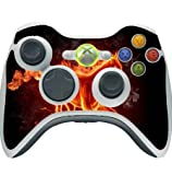 Flaming Horse Xbox 360 Wireless Controller Vinyl Decal Sticker Skin by Sorem Designs