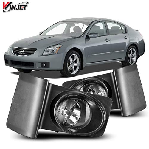 Winjet WJ30-0608-09 for 2006 - 2008 Nissan Maxima, Clear Right and Left Fog Light Lamps, OE Fitment Style, Set di Factory Replacement One - Oe Lamp Fog Replacement