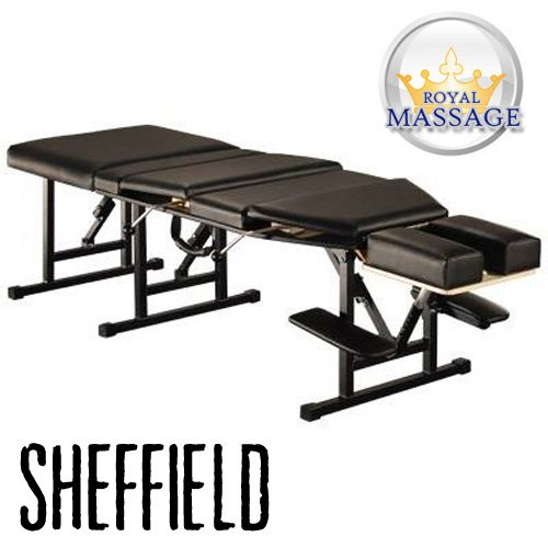 (Sheffield Elite Professional Portable Chiropractic Table - Charcoal)