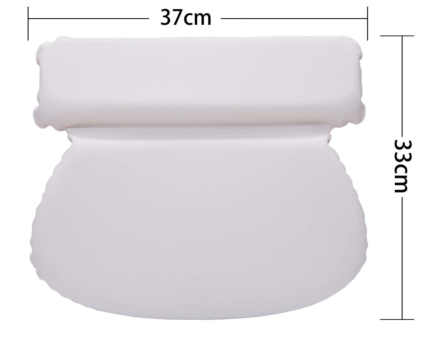 Luxury Spa Bath Pillow with Head Neck Shoulder and Back Support by Bossjoy (Image #3)