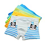 Little Boys Cute Panda Boxer Briefs Striped Underwear For Toddlers 5 Pack