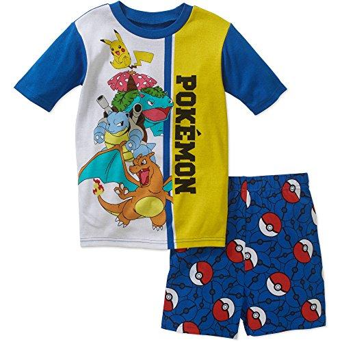 Pokemon Boys 2 Piece Pajama Shorts Set (8) (Pokemon Shorts)