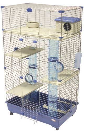 Marchioro Wheel - Marchioro Sara 82 C3 Cage for Small Animals with Wheels, 32.25 inches, Blue