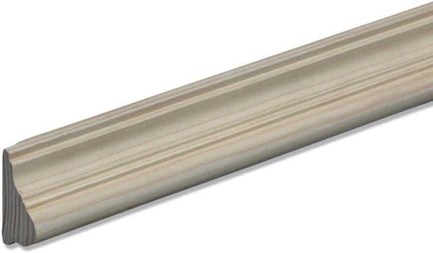 Profilleiste Zierleiste Abschlussleiste Bastelleiste aus geschliffenem Kiefer-Massivholz 2400 x 21 x 37 mm
