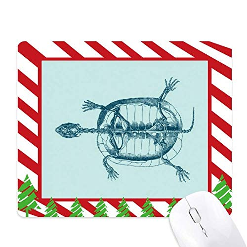 (Skeleton Sketch Tortoise Animal Mouse Pad Candy Cane Rubber Pad Christmas Mat)