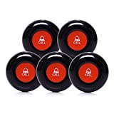 CallToU Wireless Call Buttons for Caregiver Pager and Restaurant Calling Pager Waterproof 500+ Feet Operating Range (Need to Be Paired with Receiver to Work)