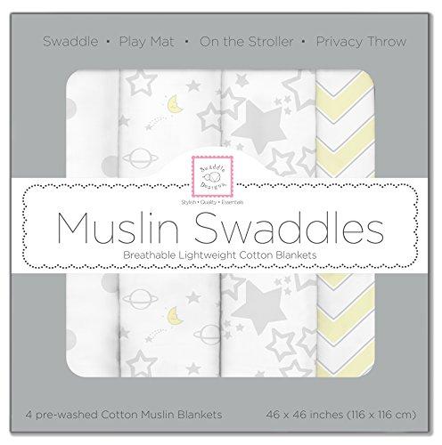SwaddleDesigns Swaddle Blankets Sterling Starshine