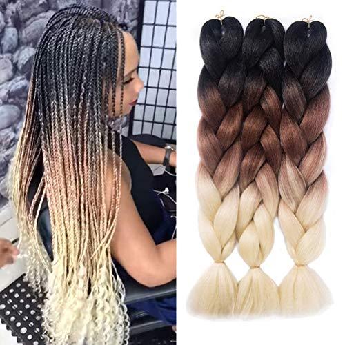 Ombre Braiding Hair Kanekalon Braiding Hair Extensions, used for sale  Delivered anywhere in USA