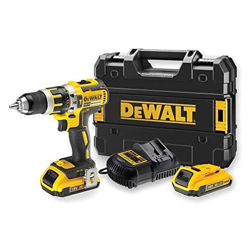 chollos oferta descuentos barato DEWALT DCD795D2 QW Taladro Percutor a bateria sin escobillas XR 18V 13mm 60Nm con 2 baterías Li Ion 2 0Ah con maletín TSTAK