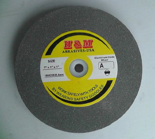 "7"" x 1"" BENCH GRINDING WHEEL 46 grit Vitrified 1"" Arbor includes 3/4"" 5/8"" 1/2"" Bushing"
