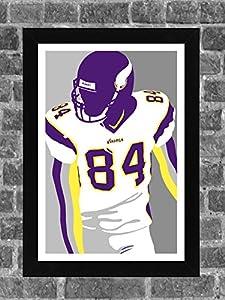 Minnesota Vikings Randy Moss Portrait Sports Print Art 11x17