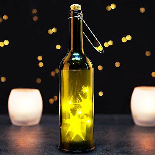 BRIGHT Decorative Bottles Bordeaux Transparent