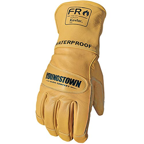Youngstown Glove 11-3285-60-XXL Flame Resistant Waterproof Leather Utility Lined with Kevlar Gloves, 2X-Large