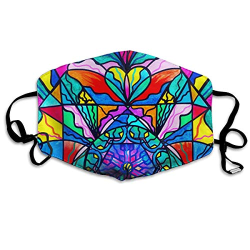 Boys Girls Dustproof Anti-Allergens Anti-Allergens Earloop Half Face Face Mask Face and Nose Cover Camping Windproof Polyeste Mask Elastic Strap, Graffiti Love Swan Heart Paintings -
