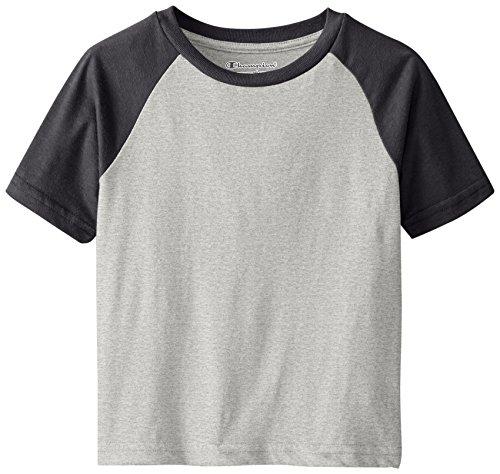 - Champion  Little Boys' Performance Short Raglan-Sleeve T-Shirt, Oxford Heather, 4