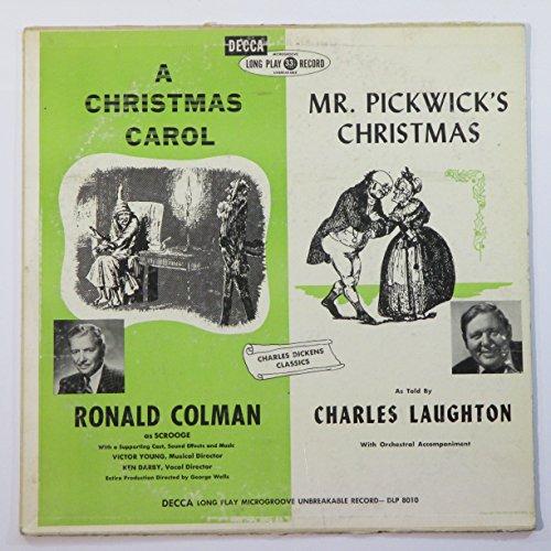 dickens: a christmas carol / mr. pickwick's christmas LP Ronald Colman A Christmas Carol