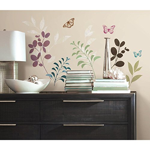 RoomMates RMK2688SCS Botanical Butterfly Decals