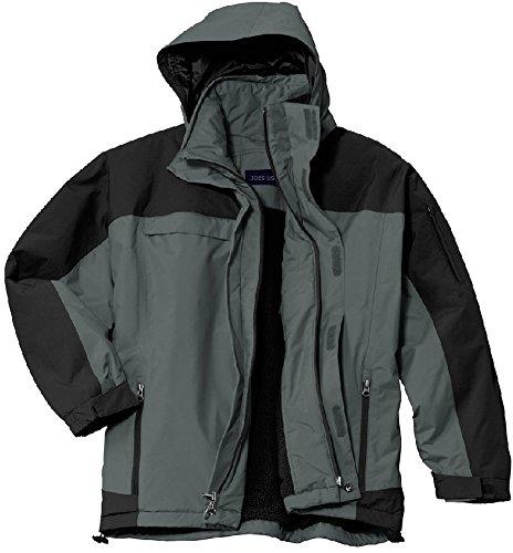 Joe's USA(tm - Men's Storm Ready Fully Seamed Waterproof Jacket Graphite/Black