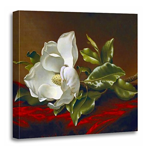 TORASS Canvas Wall Art Print Southern Magnolia Grandiflora Blossom Vintage Flower Painting Martin Artwork for Home Decor 20