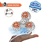Bonitronic Flying Fidget Spinner, Anti-Anxiety ADHD Relieving Reducer Fidget Rotation Triangle Spinning Toys Funny Drone Interactive Games for Kids Adults, White- 1 Year Warranty …
