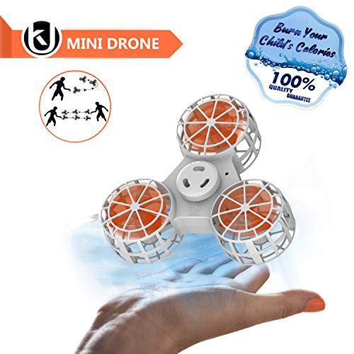 Bonitronic Flying Fidget Spinner, Anti-Anxiety ADHD Relieving Reducer Fidget Rotation Triangle Spinning Toys Funny Drone Interactive Games for Kids Adults, White- 1 Year Warranty … by Bonitronic (Image #7)