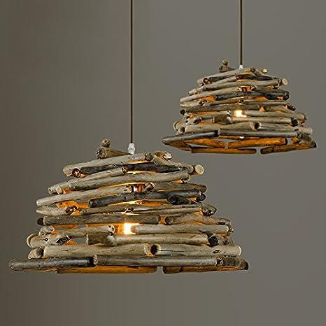 Kai lámpara de techo/techo (Madera Madera araña: Amazon.es ...