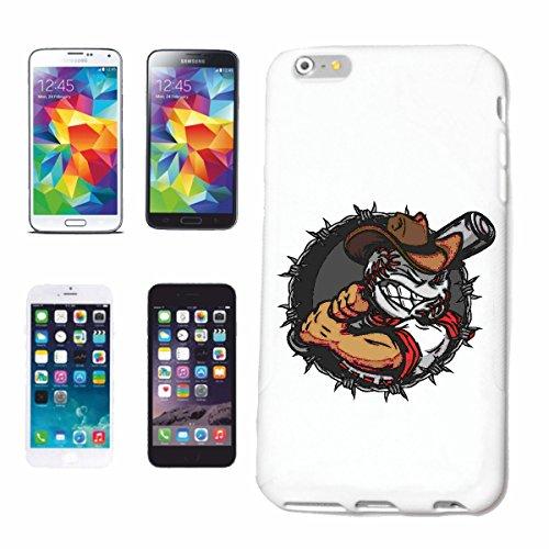 """cas de téléphone iPhone 7S """"BASEBALL AVEC BASEBALL BAT BASEBALL BAT BASEBALL PLAYER BASEBALL SHIRT BASEBALL ÉQUIPE"""" Hard Case Cover Téléphone Covers Smart Cover pour Apple iPhone en blanc"""