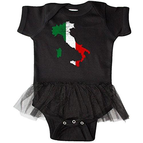 (inktastic - Italian Map Flag Infant Tutu Bodysuit 6 Months Black 2f09d)