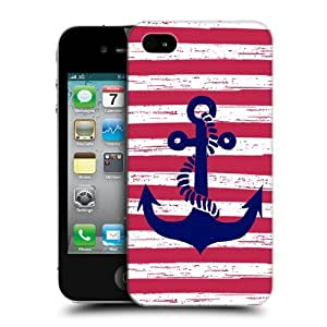 Head Case Designs Striped Anchored Protective Snap-on Hard Back Case Cover for Apple iPhone 4 4S