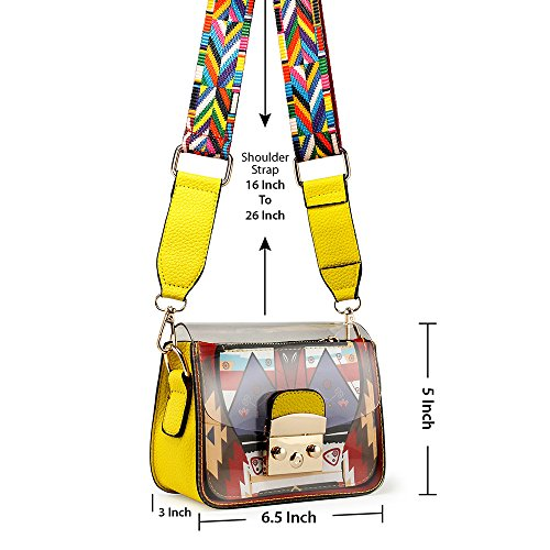 Summer Mini Transparent Yellow Women body Bag Shoulder Cross PVC OCT17 Durable Plastic CBUHqcw