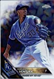 2016 Topps Chrome #56 Yordano Ventura Kansas City Royals Baseball Card in Protective Screwdown Display Case