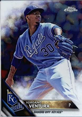 Amazon.com: 2016 Topps Chrome #56 Yordano Ventura Kansas