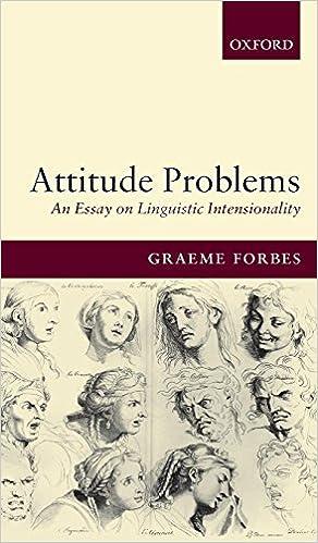 Amazoncom Attitude Problems An Essay On Linguistic Intensionality  Amazoncom Attitude Problems An Essay On Linguistic Intensionality   Graeme Forbes Books