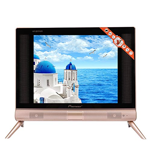 Wendry 17inch HD LCD TV, Multi-Functional High Definition LCD TV Supports USB HDMI AV Input, Equipped with High End Three Dimensional Sound Speakers(US)
