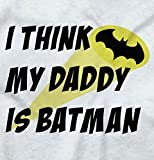 Brisco Brands My Daddy is Bat Cute Fathers Day Comic Hero Toddler Infant T