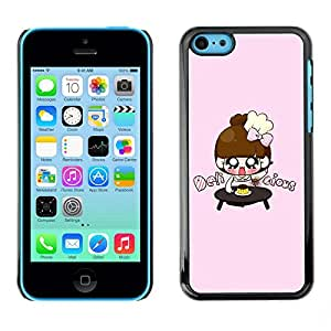 Slim Design Hard PC/Aluminum Shell Case Cover for Apple Iphone 5C Cute Japanese Anime Girls / JUSTGO PHONE PROTECTOR