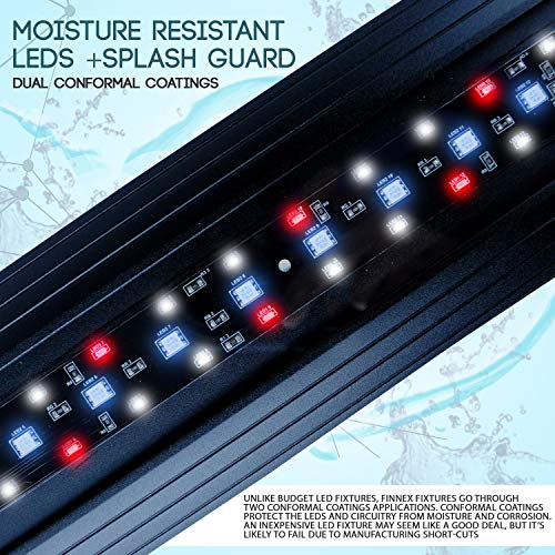"Finnex Planted+ 24/7 CRV Aquarium LED Light, Automated Full Spectrum 660Nm Deep Red Fish Tank Light, 36"""