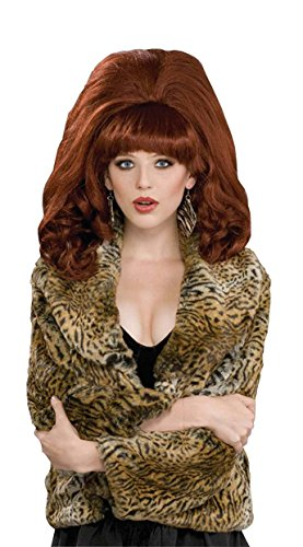 Big Hair Costume Wigs (Forum Novelties Women's Big Costume Wig, Red, One Size)