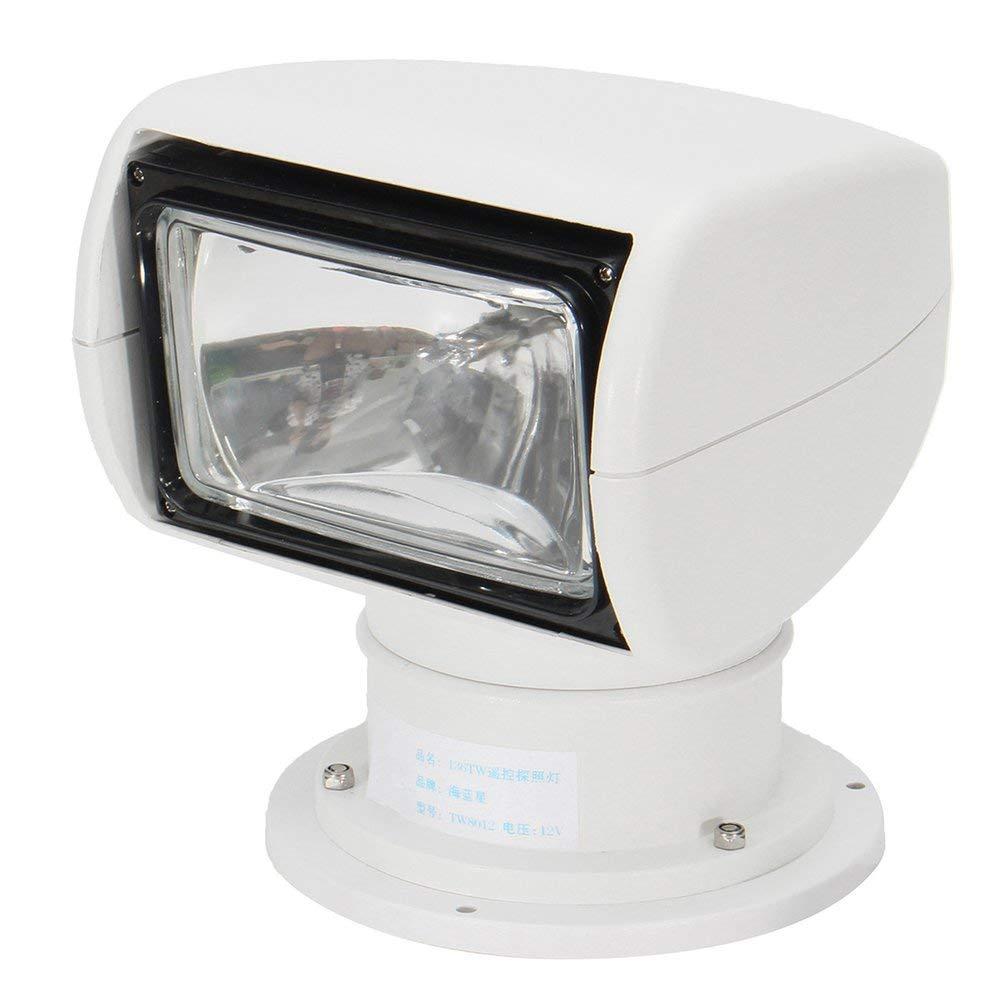Wenwenzui Boat Remote Control 12V 100W Bulb Spotlight Marine Searchlight Truck Car Kits White