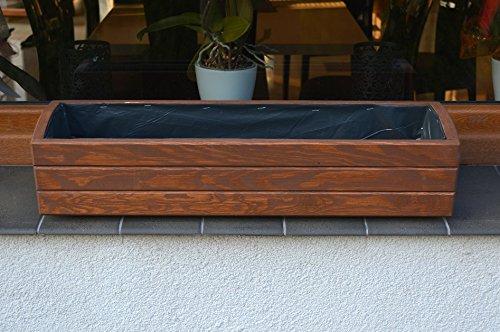 NEU Pflanzkasten aus Holz TOP Pflanzkübel Garten Terrasse fertig montiert D1 Dunkelbraun (70 cm)