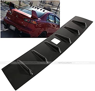 ECCPP ABS Rear Roof 6 Shark Fin Spoiler Wing Glossy Replacement fit for 2008-2016 Mitsubushi Lancer