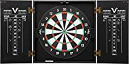 Viper Hideaway Cabinet & Steel-Tip Dartboard Ready-to-Play Bundle, Reversible Standard and Baseball Game O