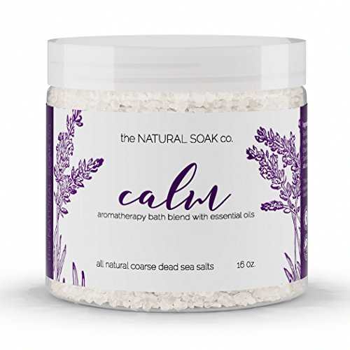 The Natural Soak Co  Calm  100  Pure Dead Sea Bath Salts   Calm  Relax And Revitalize   Rich In Vital Healing Minerals   Essential Oils Of Lavender  Cedarwood  Ylang Ylang   16Oz  Calm