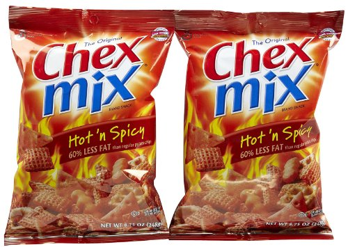 Chex Mix Crispy Snack Mix - Mix Hot N Spicy - 8.75 oz - 2 pk