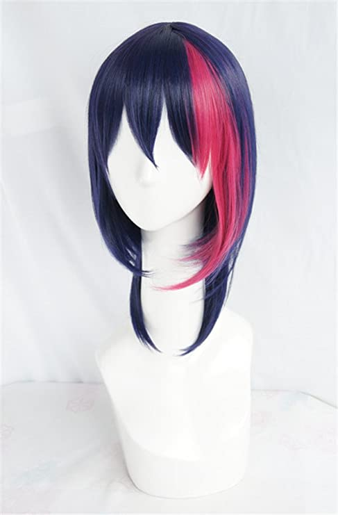 LanTing Cosplay Peluca B-Project Korekuni Ryuji Blue Mix Pink Short Cosplay Party Fashion Anime