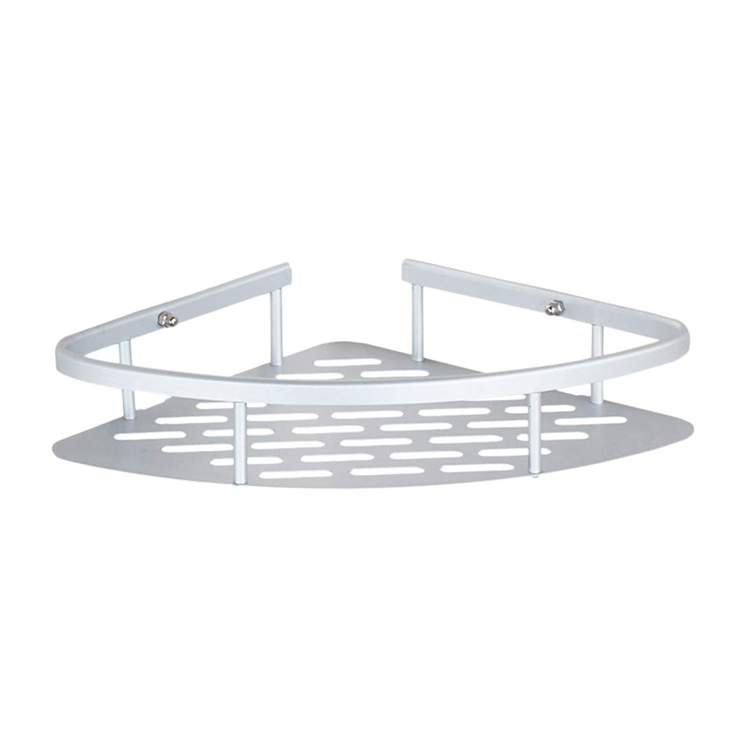 Radish Stars Aluminum Bathroom Rack Holder Quick-Install Suction Wall Shelf Single-Deck Triangle Design Storage Basket for Home Hotel Supplies
