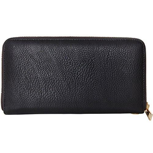 Zip Around Long Wallet (Black) - 6